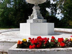 Disused Marble Fountain in the Oamary Gardens by Donald Lousley.
