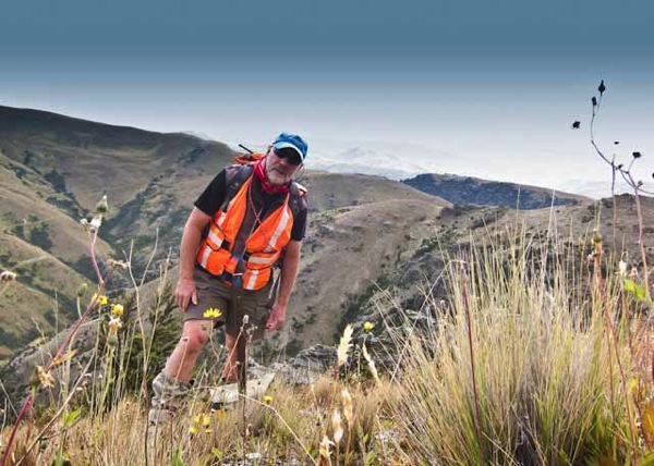 Donald Lousley in the Grandview Range NZ