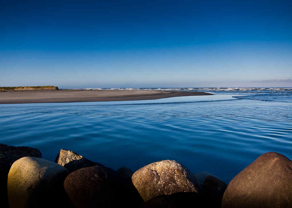 Estuary south of Cape Foulwind, Westport, New Zealand by Donald Lousley.