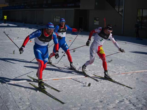 Russian and Canadian nordic ski racers at the Snow Farm NZ 2013